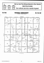 Wanda Township Directory Map, Adams County 2007